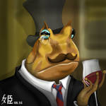 Sketch this People as animals - Toad like a sir