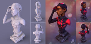 Miles Morales from Spider-verse Figure