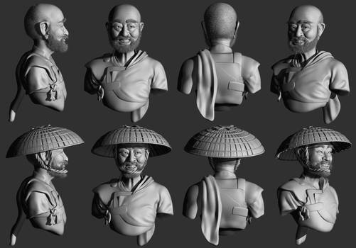 WIP - Laughing Samurai