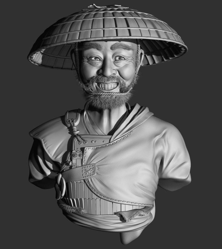 WIP - Laughing Samurai