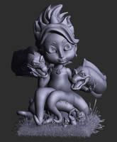 WIP - Ursula with Flotsam and Jetsam