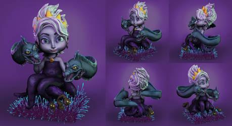 Ursula with Floatsam and Jetsam
