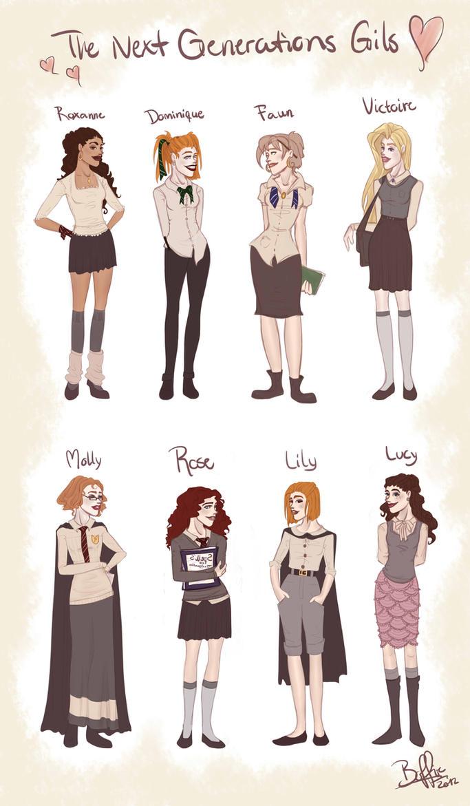 Harry Potter Next Generation Girls By Boffiexd Fan Art Digital