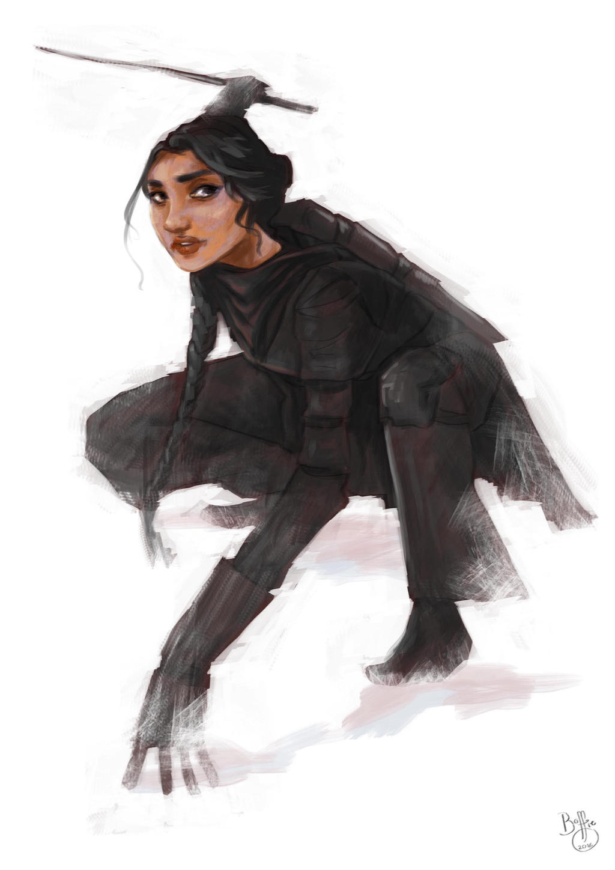 Inej Ghafa (Six of Crows) by BoffieXD