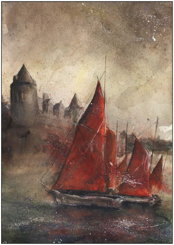 Red Sails in Josselin by sanderus