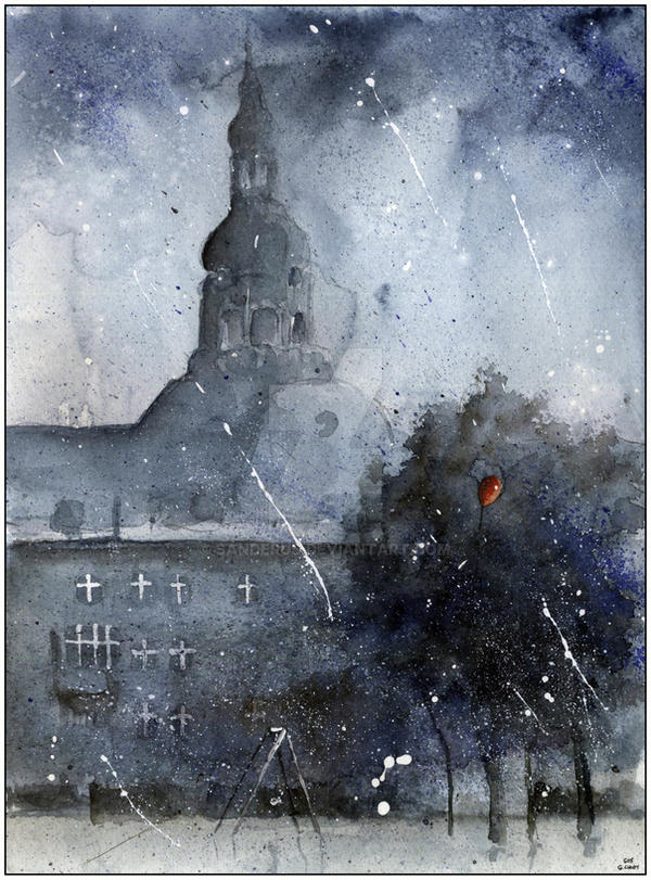 Nikiszowiec in dark by sanderus