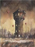 The eldest silesian watertower by sanderus