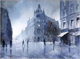 City in blue by sanderus