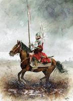 Winged horseman XI by sanderus