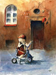 The girl on tricycle