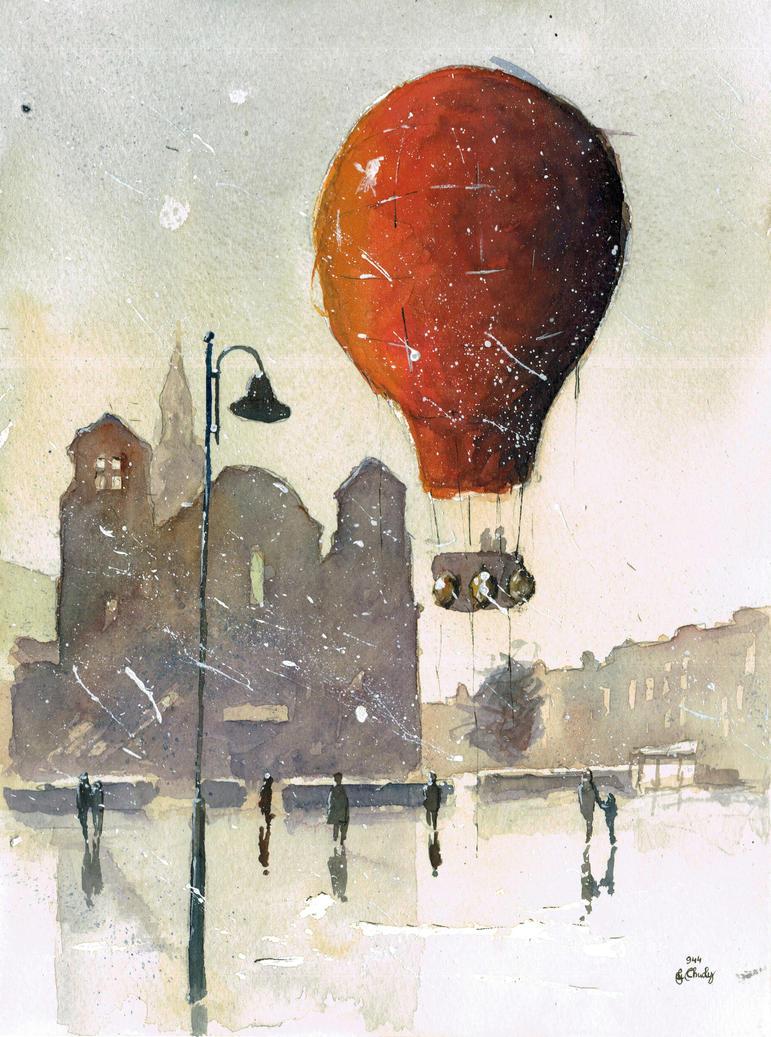 A balloon flight over Nikiszowiec I by sanderus