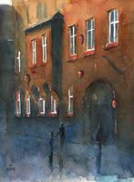 Shadows on Odrowazow Street by sanderus