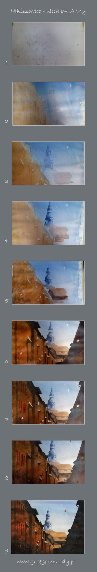 Making of watercolour from Nikiszowiec by sanderus