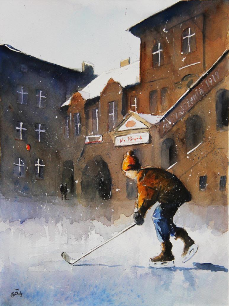 Winter in NIkiszowiec by sanderus