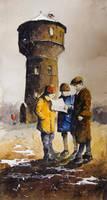 Watertower in Zabrze by sanderus