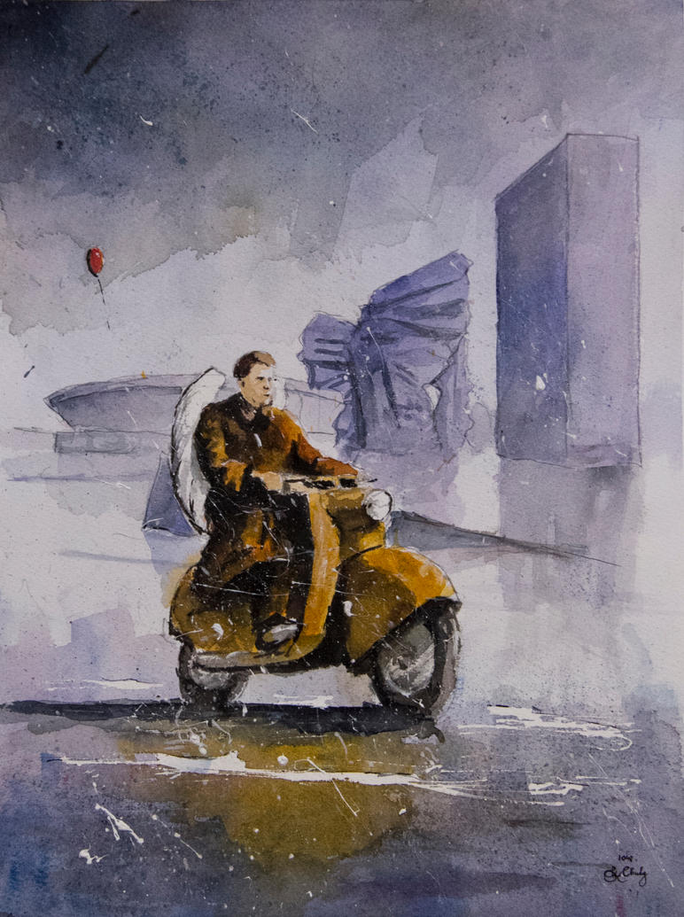 The guardian angel of mopeds by sanderus