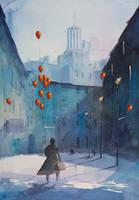 A dream seller on Krzywa Street by sanderus