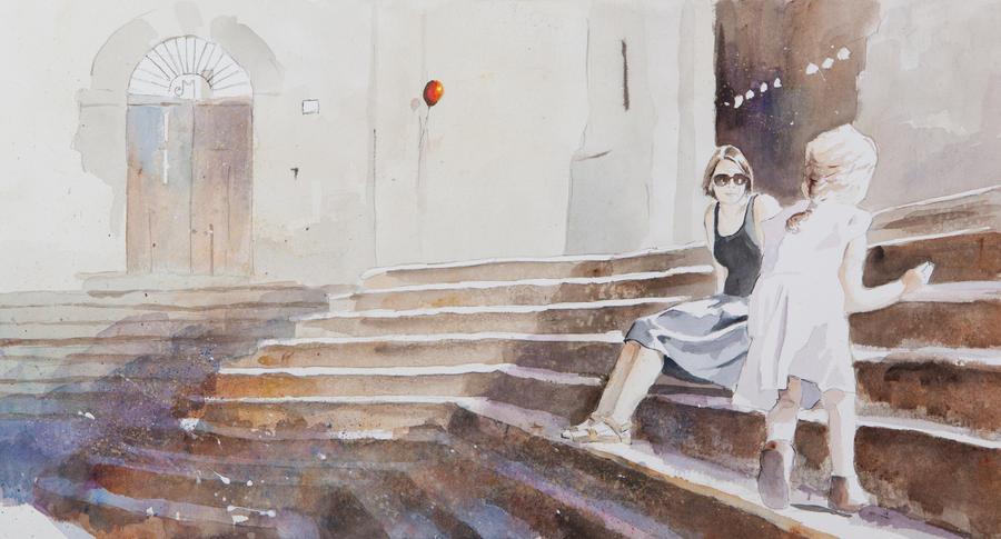 STAIRS IN ENNA by sanderus