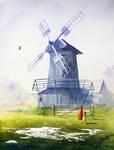 The windmill in Koryciska