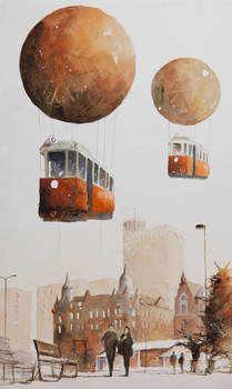 The Cityscape with Airtrams