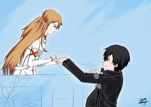 Asuna and Kirito Sword Art Online Love Quest