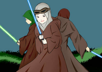 Muslim Jedi Protect the World from Darkness