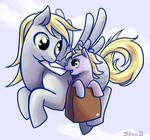Derpy Hooves and Dinky
