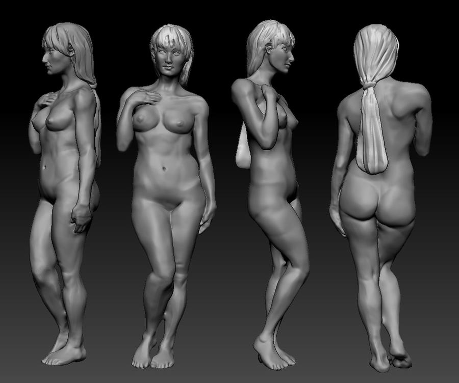 zbrush 3d model anatomy practice by zelldweller on DeviantArt