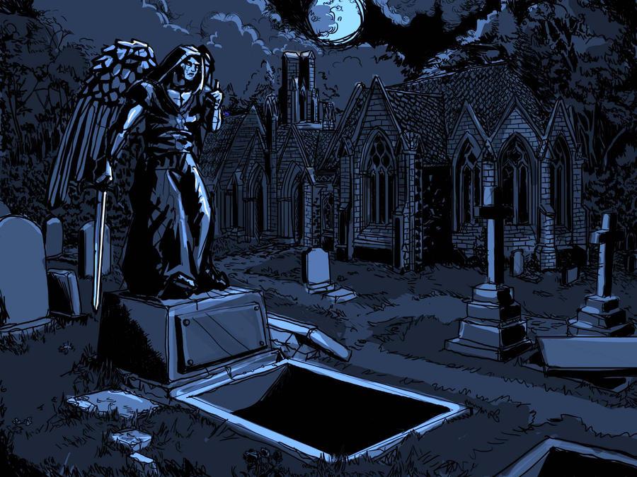 Cemetery, Dungeon Defiler by zelldweller