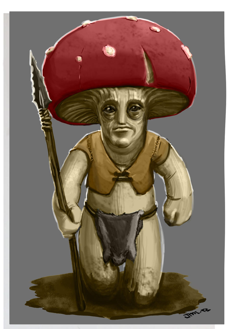 Mushroom man, Dungeons and Dragons by zelldweller