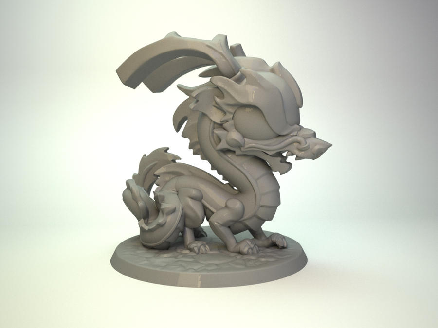 Chinese Dragon for Impact Miniatures, 50mm by zelldweller