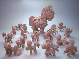 Chibi ponys for Impact Miniatures.