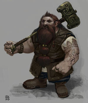 Dwarf silly sketch remake.