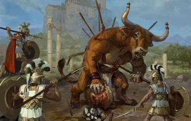 Death of the minotaur. by zelldweller