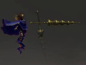 Weapon concept art for Blasphemous Stir of Dawn