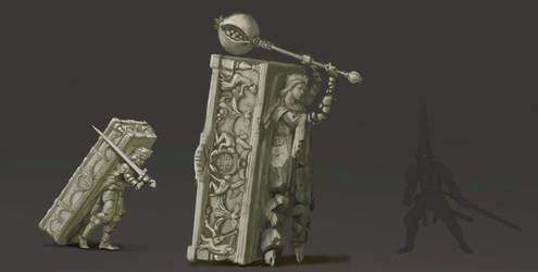 Walking sarcophagus, Blasphemous concept art