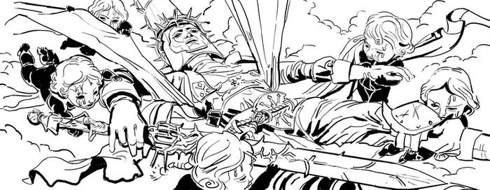 Blasphemous characters BW: Back to life.