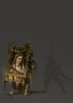 Desamparados Concept art for Blasphemous