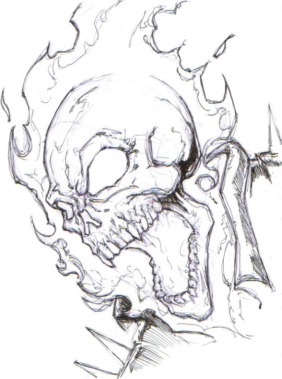 ghost skull drawings   pixshark     images galleries