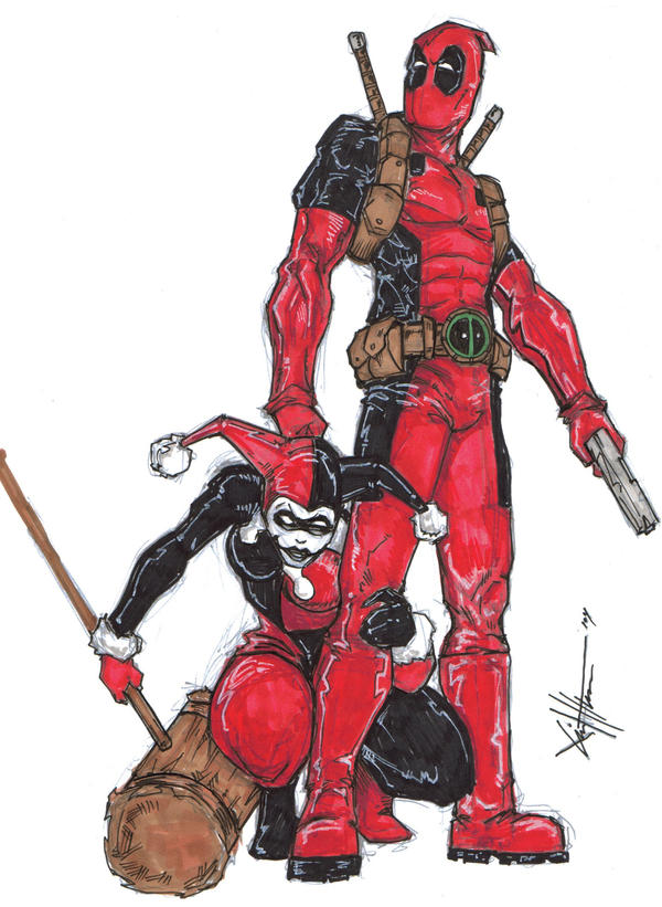 Deadpool And Harley Quinn Deadpool and harley 3 ...