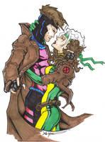 Rogue and Gambit by ChrisOzFulton
