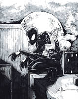 black suit spider-man by ChrisOzFulton