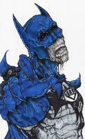 black lantern batman by ChrisOzFulton