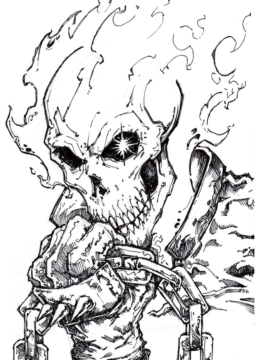 ghost rider free coloring pages - photo#23
