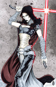 Asajj Ventress Star Wars by ChrisOzFulton
