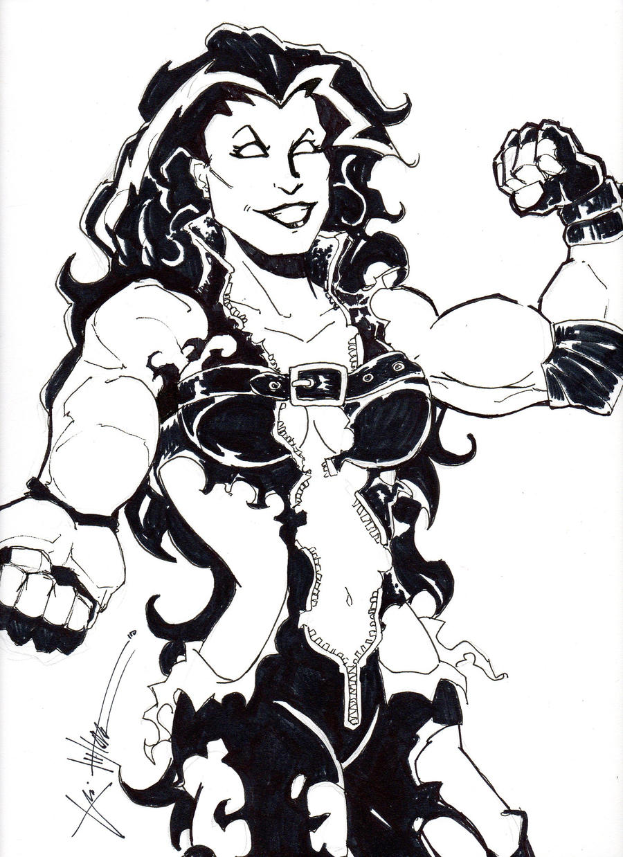 She Hulk Coloring Pages Red she-hulk by chrisozfulton