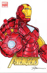 Ironman Avengers sketch cover by ChrisOzFulton