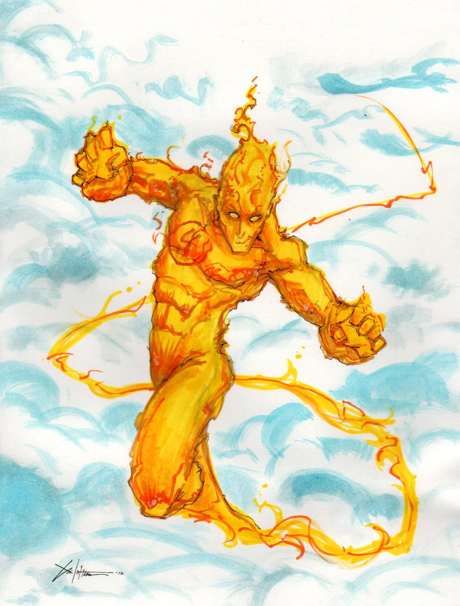 Human_Torch_Fantastic_Four_by_COVENS_OZ.