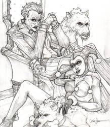 The Joker and Harley Quinn by ChrisOzFulton