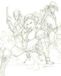 X-Men Steampunk by ChrisOzFulton